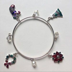Jewelry - Christmas Bangle Bracelet Silver Shiny Holidays